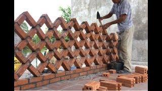 Worker Unique Brick Wall Building Project - Great Creative Building Idea