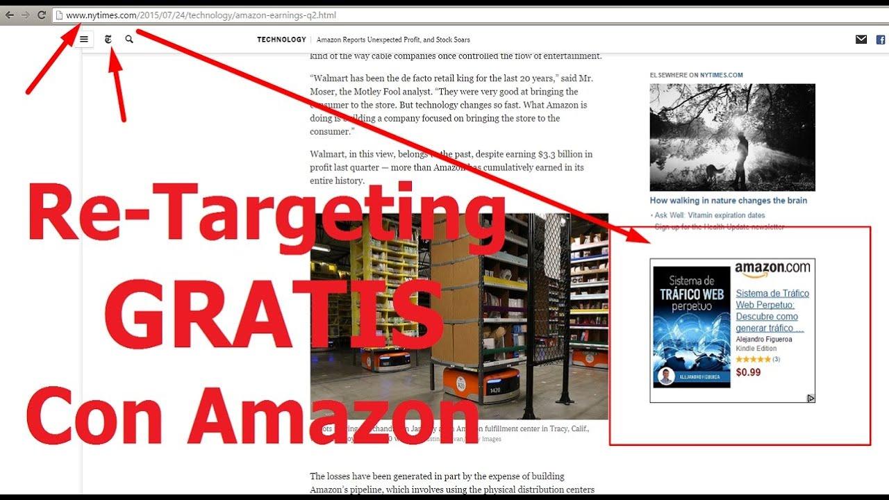Retargeting Gratis con Amazon