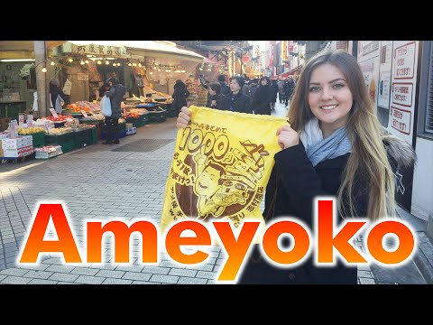 """Ameyoko"" market street in Tokyo Ueno"