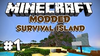 Minecraft: Modded Survival Island: Ep.1 - Treasure
