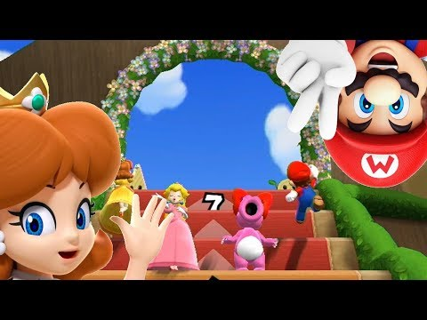 Mario Party 9◆Step It Up #125 Daisy and Mario Draw : Tie Game for 7 wins vs master COMs