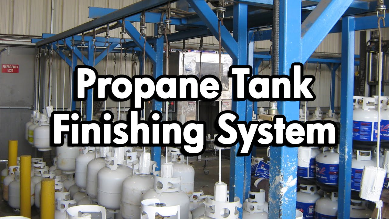 Propane Paint Line Conveyor System Youtube