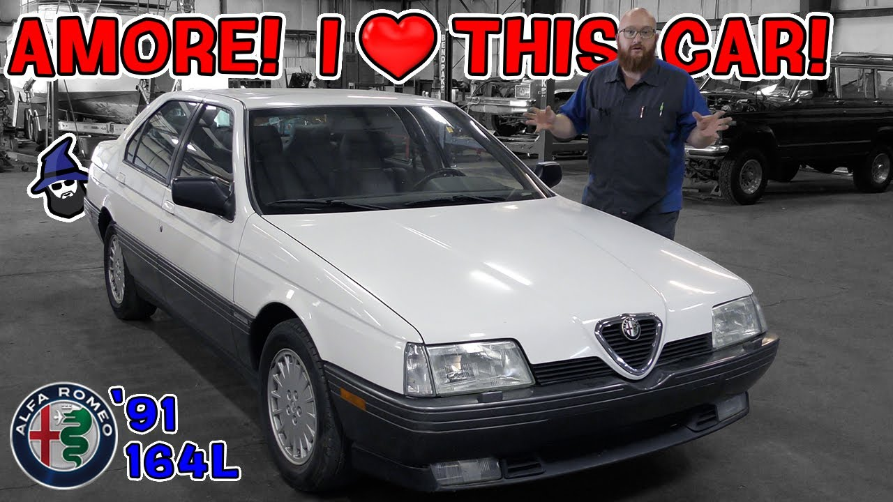 Rare '91 Alfa Romeo 164L will make you fall in love with it. The CAR WIZARD loves this vintage sedan