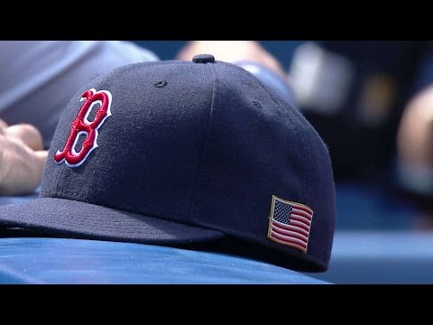 BOS@TOR: Red Sox, Blue Jays Wear American Flag Hats