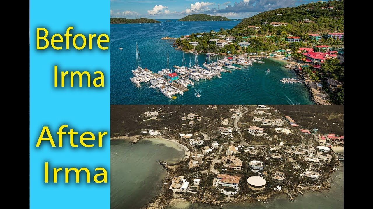 Hurricane Irma Before And After Leverick Bay Virgin