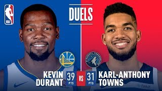Gambar cover Karl Anthony Towns and Kevin Durant Duel in Minnesota