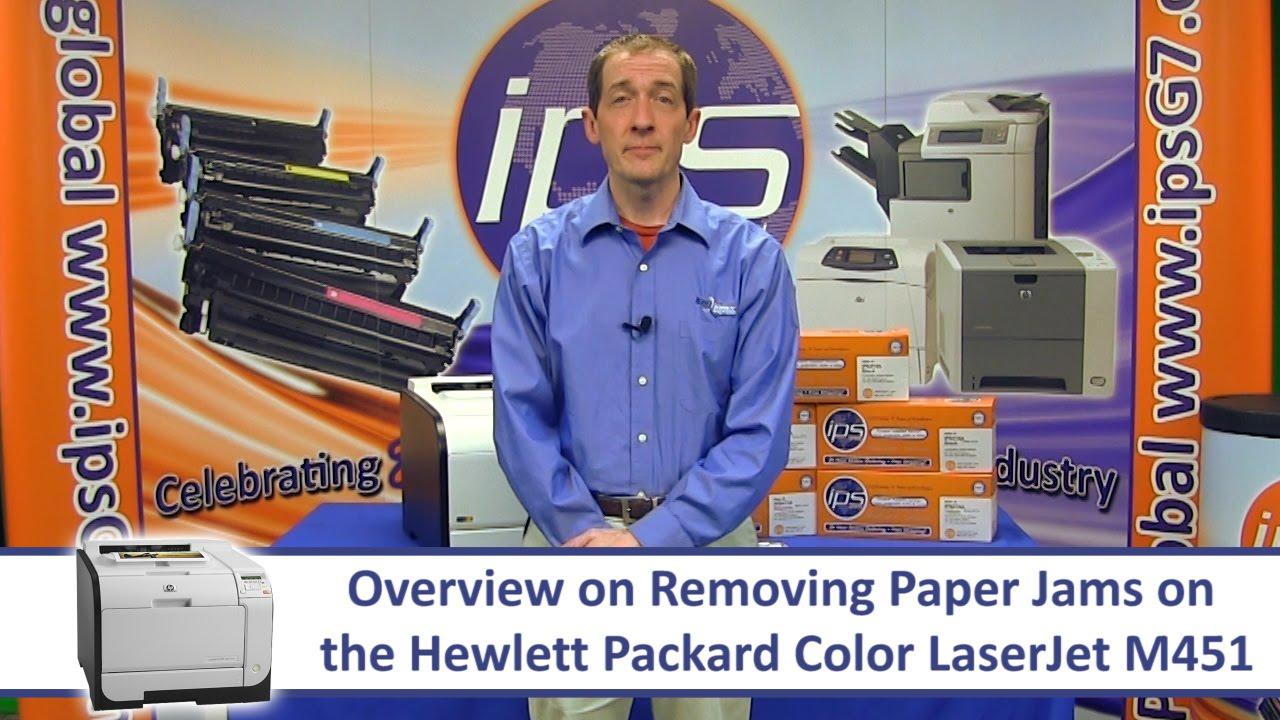 HP M451 - Removing Paper Jams