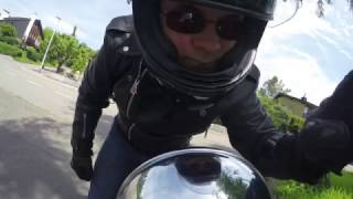 Motorcycle Ride  on a Go Pro 4 in 4K