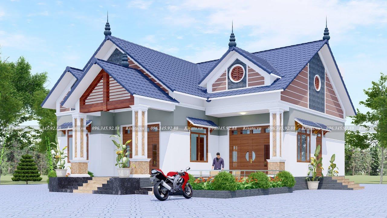 Mẫu Nhà Cấp 4 Đẹp 150m2 Với 3 Phòng Ngủ Kèm Vườn Nướng BBQ Tại Thái Nguyên