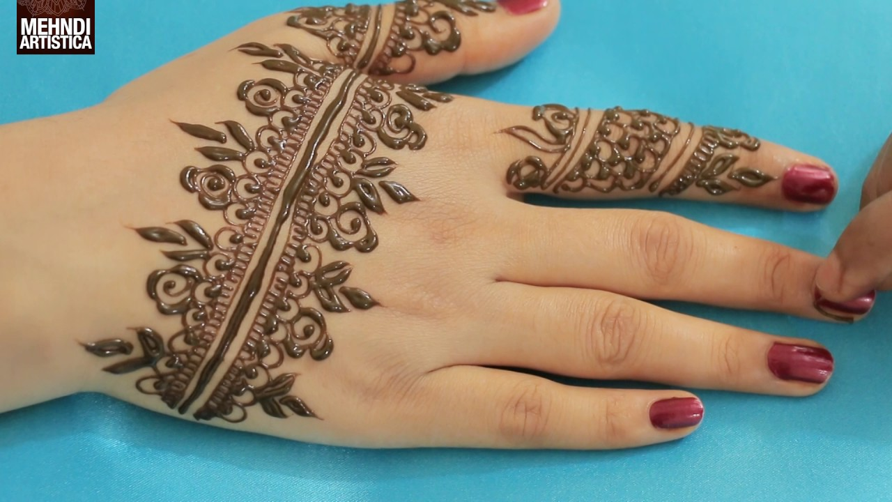 Easy Mehndi Tutorial : Beginners basic design mehndi designs for hands simple easy