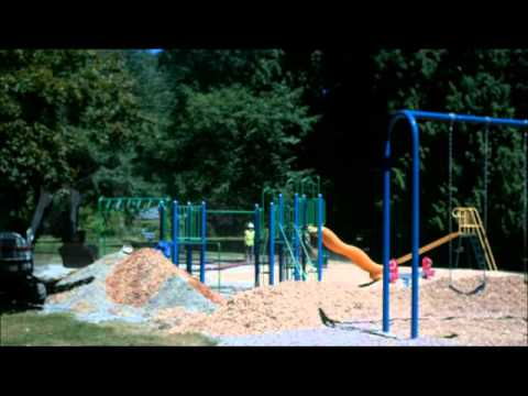pea gravel playground timelapse playground conversion from pea gravel to wood chips youtube