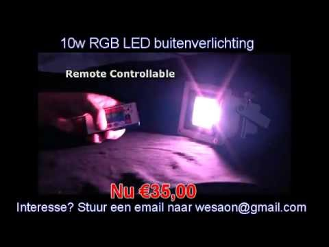 W rgb led buitenverlichting youtube