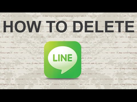 How to delete LINE account