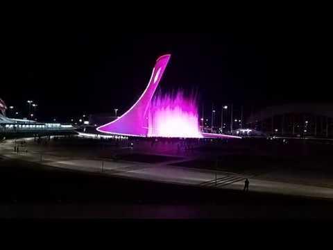 Вечерняя прогулка по Сочи. Олимпийский парк. Самое интересное Поющий Фонтан!