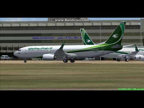 Iraqi Airways B737 Baghdad International Airport ORBI Landing FS9