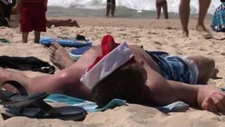 عيد الميلاد على شاطئ بوندي الأسترالي