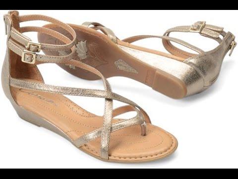 25bb20a693d2 Born Crown Womens Daphne N14010 Gold Sandals - YouTube