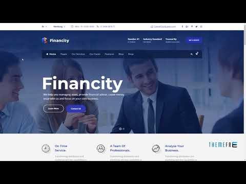 Financity - Business / Financial / Finance WordPress Theme        Day