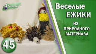 Как Сделать ЕЖИКА Природный материал / Декор дома / Идеи Handmade Diy / Студия Флористики Olinbuket