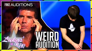 WEIRD AUDITION with LONGEST feedback | #LukasGotTalent/America's Got Talent FAKE (parody) auditions