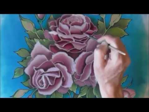 Silk painting roses on silk 2 seidenmalerei youtube silk painting roses on silk 2 seidenmalerei mightylinksfo