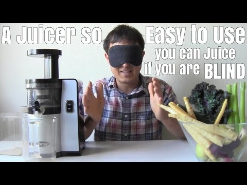 A Juicer So Easy to Use you can Juice if you are Blind