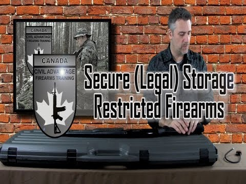 Secure Storage Of Restricted Firearms- Canada