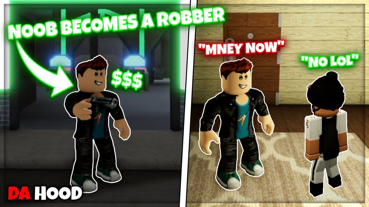 Download Da Hood   Robbing People as a Noob (ROBLOX)