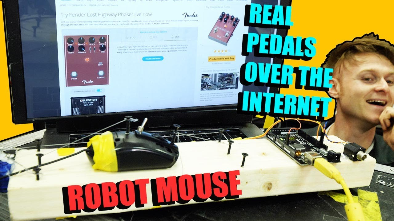 Robot Mouse Playing Effects Pedals Over The Internet - STOMPENBERG FX