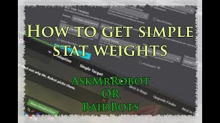 Ask mr robot stat weights