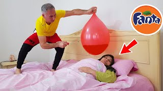 BALLOON İN FANTA PRANK !! Terrible Joke in Bed