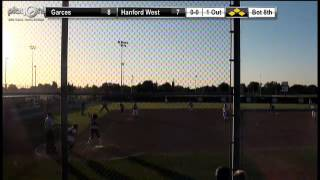 Hanford West ties the game in the Bot 8th on the HBP of Jordan Matheney