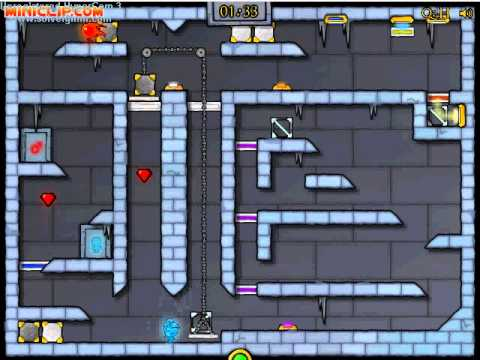 Miniclip Ice Temple [FireBoy & WaterGirl] Level 15 Guide
