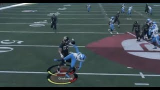 Madden 18 Top 10 Plays of the Week Episode 9 - Rob Gronkowski Big Hit DESTROYS Defender's Career