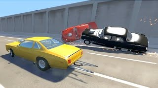 BeamNG drive - Drag Race Crashes