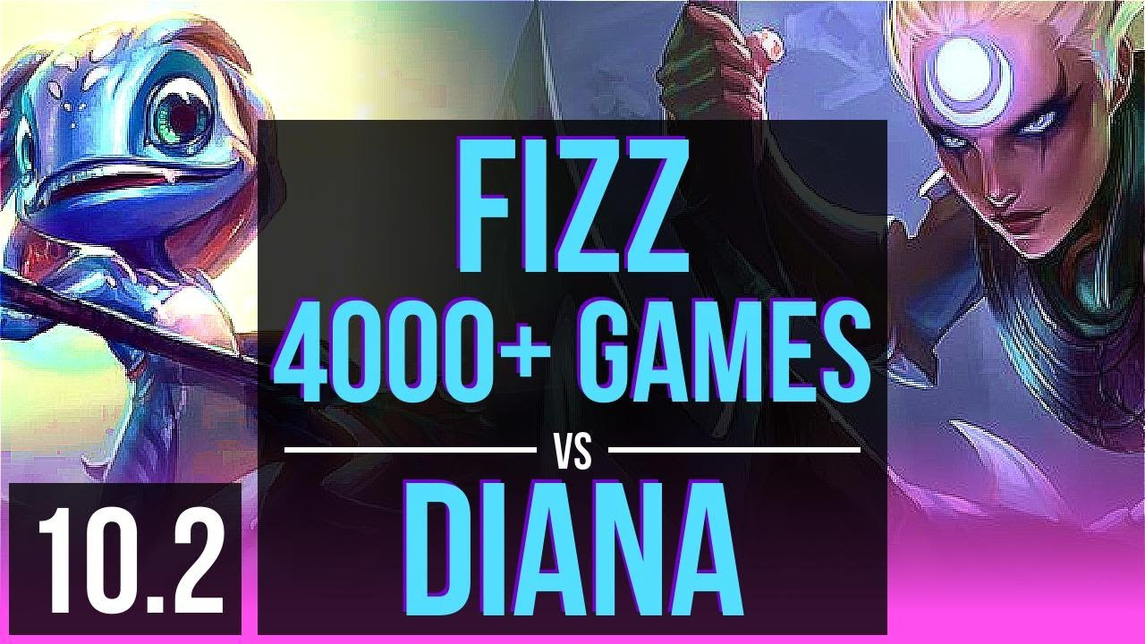 FIZZ vs DIANA (MID) | 4000+ games, Rank 11 Fizz, KDA 11/0/7, Legendary | EUW Grandmaster | v10.2