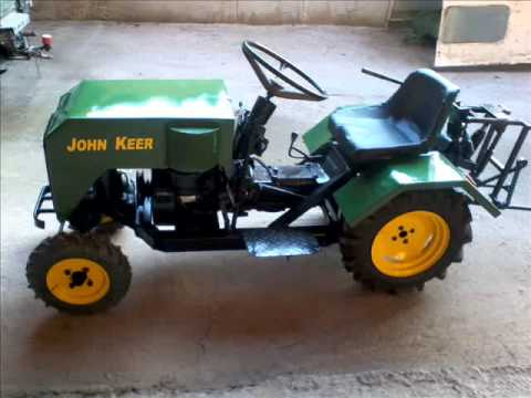 HAND MADE SMALL TRACTOR FROM GREECE
