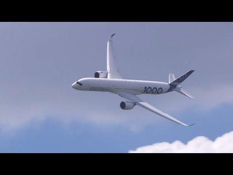 LA350-1000 en majesté dans le ciel du Bourget