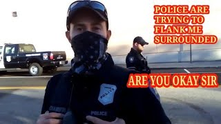 SUSPICION IS GROUNDS FOR DETAINMENT cops owned I don't answer questions first amendment audit