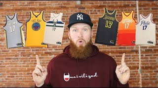 RANKING THE ENTIRE NIKE NBA CITY EDITION JERSEYS!