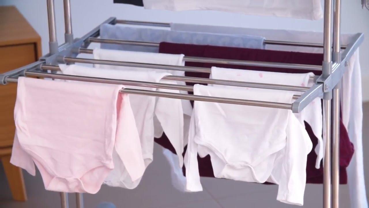 Comfy Dryer Chrome Foldable Clothes Rack