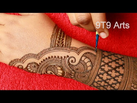 Beautiful Fullhand Dulhan Mehndi Designs  Unique and Stylish Henna Design  New Arabic Mehndi Designs