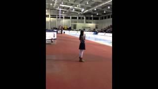 Zoe Heiden sings National Anthem US Speedskating Olympic Tr