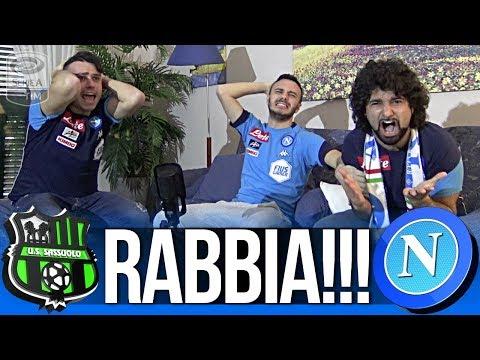 Sassuolo 1-1 napoli | rabbia!!! live reaction tifosi napoletani hd