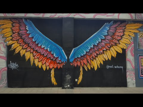 Graffiti Art wall – Street Art at LuckyOne Mall, Food court Karachi,  2021