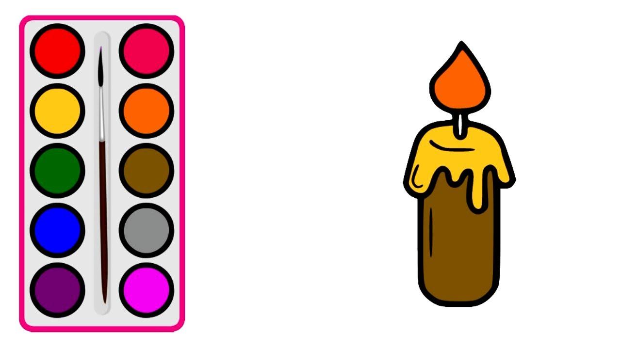 Cara Menggambar Lilin