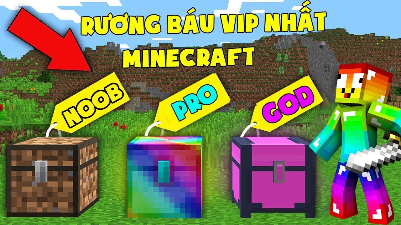 Minecraft, Nhưng Noob Sở Hữu Rương Báu Vip Nhất! Noob Team Cuộc Chiến Mở Kho Báu Nhận Đồ Vip ??