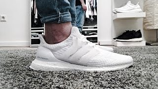93bfc3f4b6aeb Adidas Ultra Boost 3.0 Triple White Unboxing Review On Feet Video  vlog 03  Deutsch