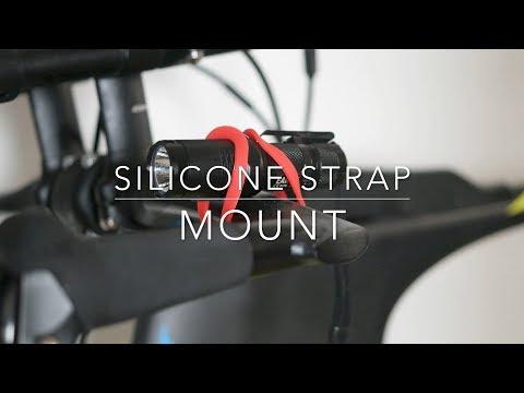 Silicon Strap Flashlight Mount
