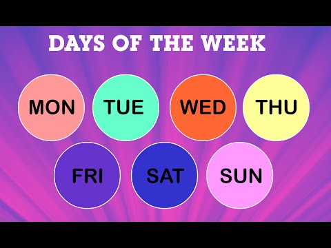 Seven Days of The Week for Kids | Name of Days | Kindergarten | Periwinkle